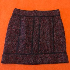 Adriennne Vittadini burgundy tweed  mini skirt EUC